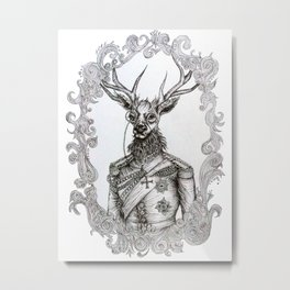 Oh Deer Lord Metal Print