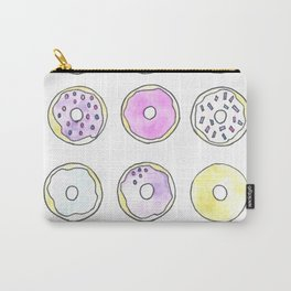 Watercolor Dozen Donuts Carry-All Pouch