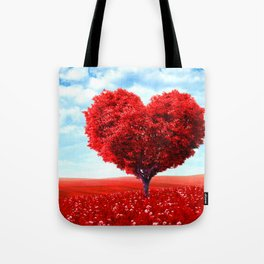 Cosmic love tree 3 Tote Bag