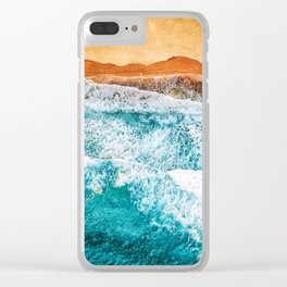 Tropical VI - Beach Waves II Clear iPhone Case