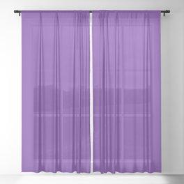 Matching Purple Sheer Curtain