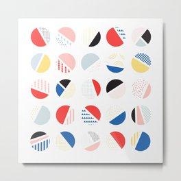 Modern Circles Pattern Metal Print