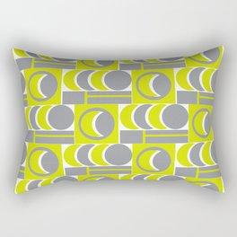Grey Yellow Relationship Rectangular Pillow