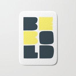 Be Bold in Black and Lemon Yellow Bath Mat