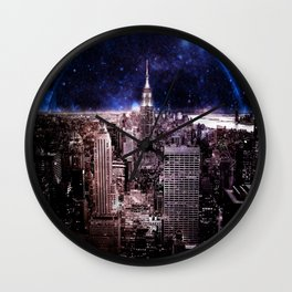 New York City : Parallel Dimension Wall Clock