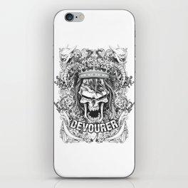 Devourer Evil Skull Wearing Crown iPhone Skin