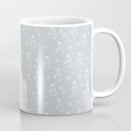 grey snowman Coffee Mug