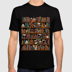 Bookshelf SMALL Black Mens Fitted Tee