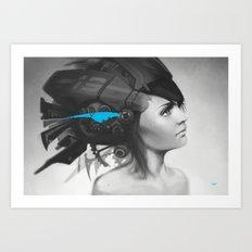 Feather Blue Art Print