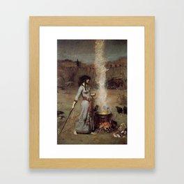 The Magic Circle, John William Waterhouse Framed Art Print