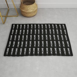 Bored Comic Style Word Typographic Pattern Rug