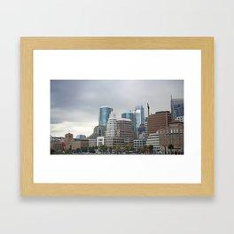 Downtown San Francisco, Changing Skyline Framed Art Print