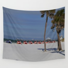 A November Day At Clearwater Beach Wall Tapestry