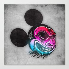 Evil Mickey 2 Canvas Print