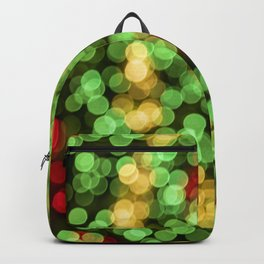 Holiday Spiral Bokeh Backpack