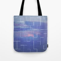 labyrinth Tote Bags featuring Labyrinth by MJ Mor