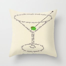 Martini Glass Throw Pillow