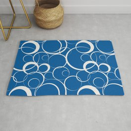 Ring Pattern V52 2021 Color of the Year Accents Cloud Dancer 11-4201 White Skydiver 19-4151 Blue Rug