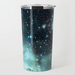 Teal Green Galaxy : Celestial Fireworks Travel Mug