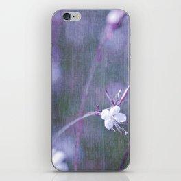 melancholy flowers iPhone Skin