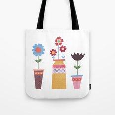 Floral Pots Tote Bag