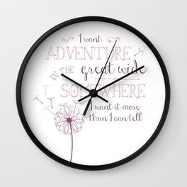 Great Wide Somewhere Wall Clock