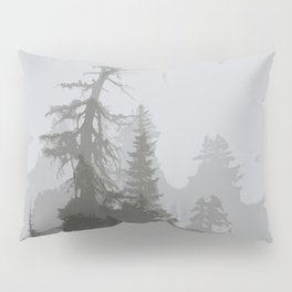 MOUNTAIN HEMLOCK SILHOUETTES IN THE CLOUDS Pillow Sham