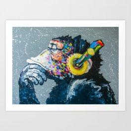 MELOMONKEY Art Print