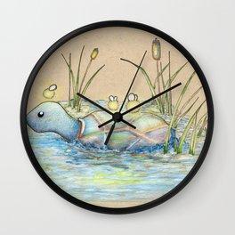 Turtle Crossing Wall Clock