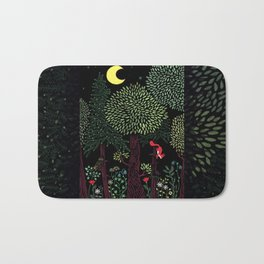 Into The Woods At Night Bath Mat