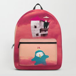 Red Glow Time Rabbit Backpack