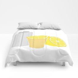 Salt, lemon and tequila Comforters