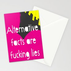 Alternative Lies are Fucking Lies Stationery Cards