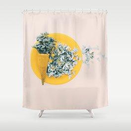 Delicate Spring breakfast Shower Curtain