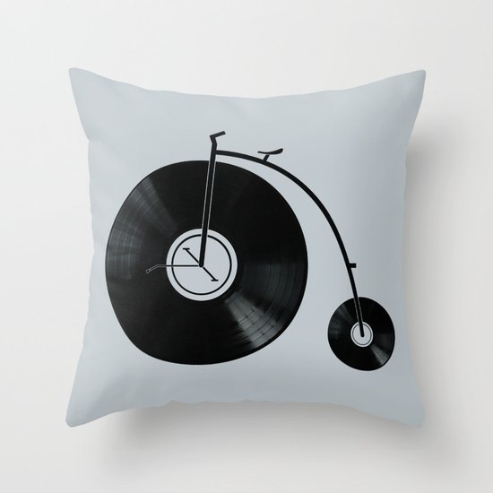 Ride Your Music! Throw Pillow