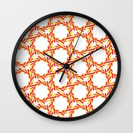 circle leaves pattern Wall Clock