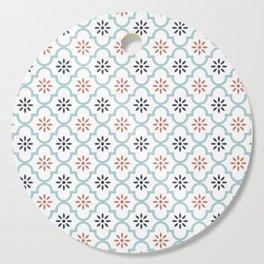 Red & Blue Mute Lattice Cutting Board