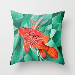 Marine Fire Fish or Lionfish Throw Pillow