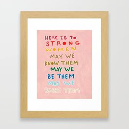 Strong Women Framed Art Print