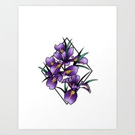 Oregon iris Art Print