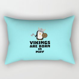 Vikings are born in May T-Shirt D2o7h Rectangular Pillow
