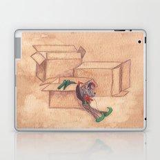 Tres cajas de cartón y dos marionetas Laptop & iPad Skin