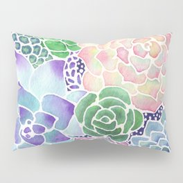 Masked Flora Collection Succulents Pillow Sham