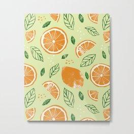 Lemonade   Orange & Green Palette Metal Print