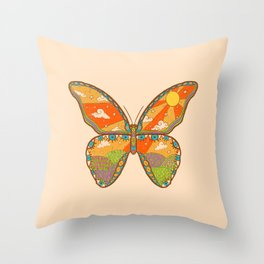Butterfly Day Throw Pillow