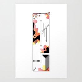 e typo 2 Art Print