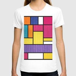 Mondrian Bauhaus Pattern #11 T-shirt