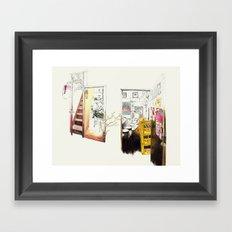 Tuesday Night Doors Framed Art Print