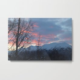 Pink And Blue Sunrise Metal Print