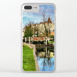 Town Lock Newbury Clear iPhone Case